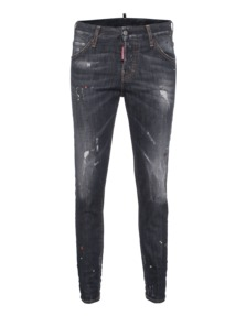 DSQUARED2 Long Crotch Dirt Used Dark Grey