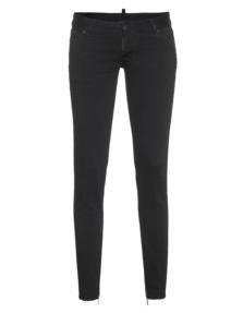 DSQUARED2 Skinny Low Crotch Clean Zipper Black