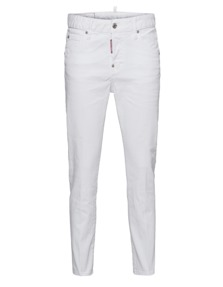 DSQUARED2 Cool Girl Cropped Jean Long Crotch White