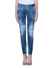 DSQUARED2 Medium Waist Skinny Jean Blue