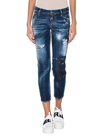 DSQUARED2 Super Skinny Cropped Blue