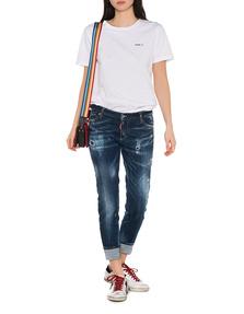 DSQUARED2 Super Skinny Cropped Jean Blue
