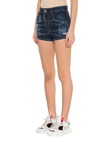 DSQUARED2 High Waist Jeansshorts Blue