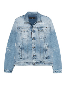 DSQUARED2 Acid Wash Destroyed Light Blue