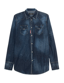 DSQUARED2 Denim Destroyed Blue