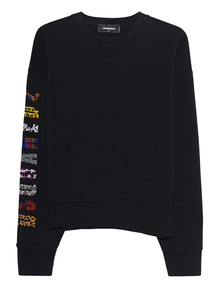 DSQUARED2 Sleeve Letter Pattern Black