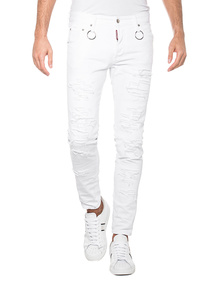 DSQUARED2 Skinny Dan Destroyed White