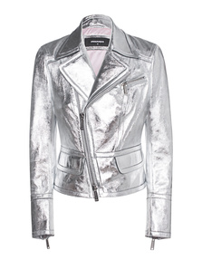 DSQUARED2 Shine Silver Leather