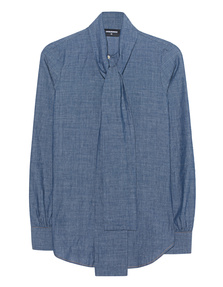 DSQUARED2 Bow Shirt Blue