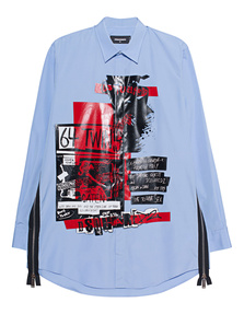 DSQUARED2 Print Light Blue