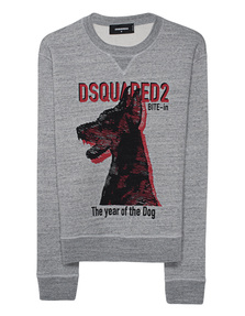 DSQUARED2 Dog Print Grey