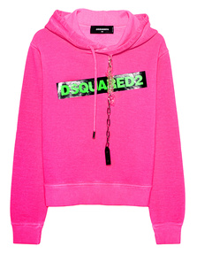 DSQUARED2 Logo Chain Neon Pink