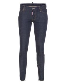 DSQUARED2 Medium Waist Skinny Crotch Tight Bottom Monster Blue