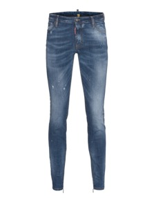 DSQUARED2 Medium Waist Twiggy Jean Mid Blue