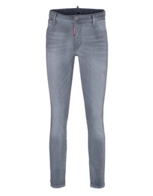 DSQUARED2 Medium Waist Cropped Twiggy Jean Grey