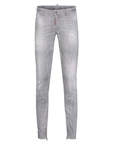 DSQUARED2 Medium Waist Skinny Jean Grey