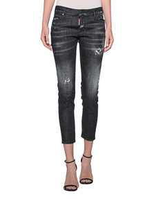 DSQUARED2 Super Skinny Crop Black