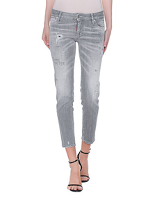 DSQUARED2 Super Skinny Cropped Grey