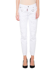 DSQUARED2  Runway Cropped White