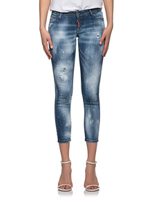 DSQUARED2 Jennifer Cropped Destroyed Blue