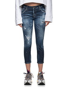 DSQUARED2 Cool Girl Cropped Jean Blue