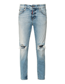 DSQUARED2 Cool Girl Cropped Jeans Light Blue