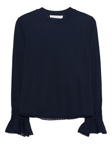 SEE BY CHLOÉ Top Embroidery Navy