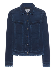 7 FOR ALL MANKIND Easy Trucker Luxe Rich Indigo Frayed