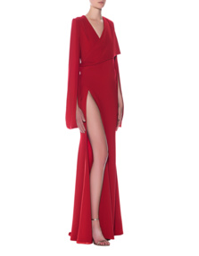 Lever Couture High Slit Red