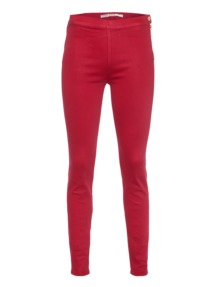 GIAMBATTISTA VALLI FOR SEVEN FOR ALL MANKIND Elegant Zipper Flame Red