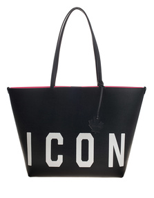 DSQUARED2 Icon Leather Travel Black