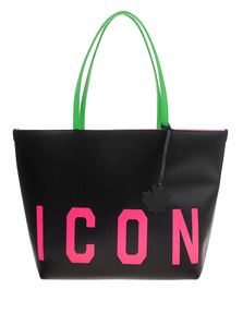 DSQUARED2 Icon Leather Travel Black Pink