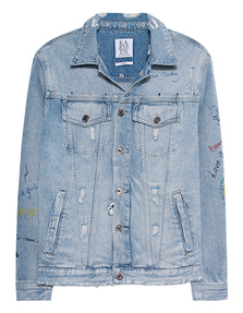 ZOE KARSSEN Denim Word Print Blue