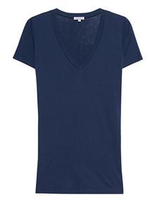 SPLENDID Light Jersey V-Neck Dark Blue