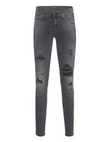 7 FOR ALL MANKIND Ankle Skinny Black Sequins Distressed
