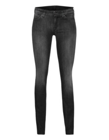 7 FOR ALL MANKIND Cristen Skinny Washed Black