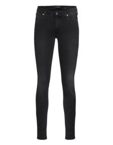 7 FOR ALL MANKIND The Skinny Slim Illusion Luxe Mid Black