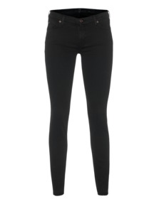 7 FOR ALL MANKIND The Skinny Riche Sateen Black