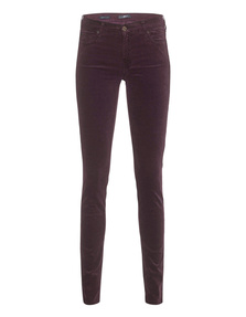 7 FOR ALL MANKIND The Skinny Velvet Burgundy