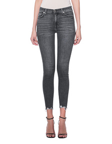 7 FOR ALL MANKIND Hig Waist Skinny Crop Anthracite