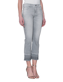 7 FOR ALL MANKIND The Ankle Flare Unrolled Cool Grey