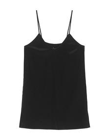 JADICTED Silk V Neck Black