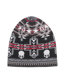 GEMMA.H Skull Jaquard Black Red