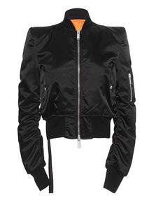 UNRAVEL Bomber Chopped Black
