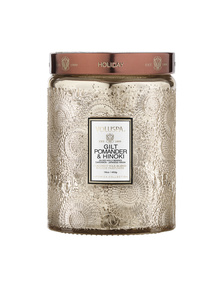 VOLUSPA Large Embossed Glass Jar