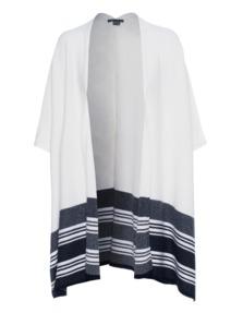VINCE Graphic Stripe Cape Off-White Black