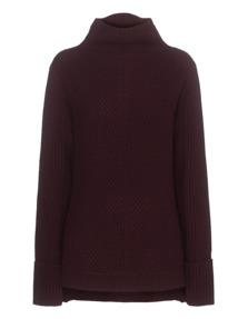 VINCE Directional Rib Knit Bordeaux