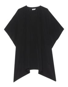 VINCE Silk V-Neck Black