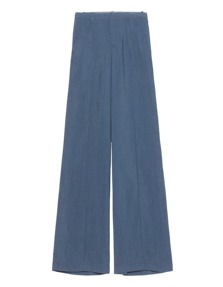 VINCE Pintuck Wide Leg Blue