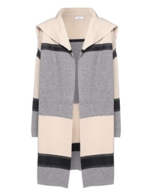 VINCE Colorblock Car Ivory Grey
